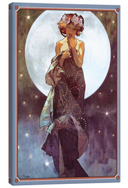 Canvas print  The Moon, adaptation - Alfons Mucha