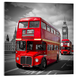 Acrylic print  LONDON Red Buses - Melanie Viola
