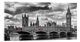 Acrylic print  LONDON Westminster Bridge Panoramic - Melanie Viola