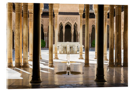 Acrylic print  Court of the Lions, Alhambra palace, Granada, Spain - Matteo Colombo