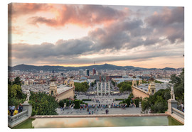 Canvas print  Barcelona in the evening - Matteo Colombo