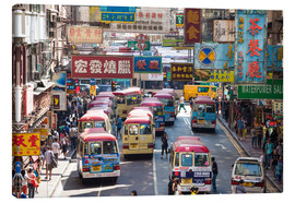 Canvas print  Crowded street in Mong Kok, Hong Kong - Matteo Colombo