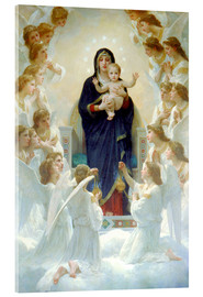 Acrylic print  The Virgin with angels - William Adolphe Bouguereau