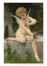 Premium poster Cupid with butterfly