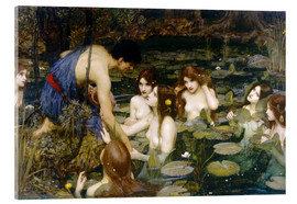 Acrylic print  Nymphs - John William Waterhouse