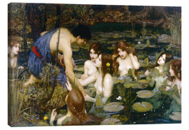 Canvas print  Nymphs - John William Waterhouse