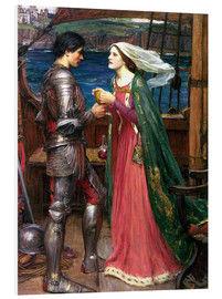 Foam board print  Tristan and Isolde - John William Waterhouse
