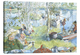 Canvas print  The Crayfish Season Opens - Carl Larsson