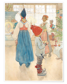 Premium poster  Before Christmas - Carl Larsson