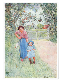 Premium poster  Say hello to the nice uncle - Carl Larsson