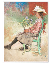 Premium poster  Dagmar Grill in the garden - Carl Larsson