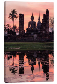 Canvas print  Wat Mahathat in evening light - Matteo Colombo