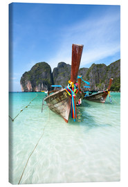 Canvas print  Decorated wooden boats, Thailand - Matteo Colombo