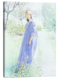 Canvas print  Sun and flowers - Carl Larsson