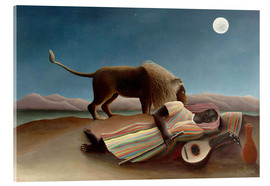 Acrylic print  The Sleeping Gypsy - Henri Rousseau