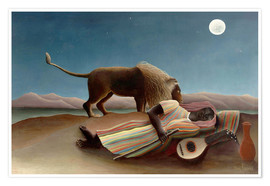 Premium poster  The Sleeping Gypsy - Henri Rousseau