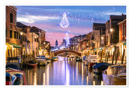 Premium poster  Canal in Venice at Christmas - Matteo Colombo