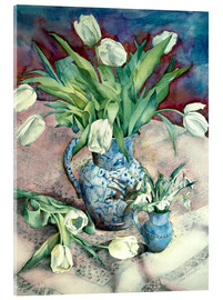 Acrylic print  Tulips and Snowdrops - Julia Rowntree