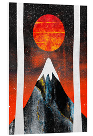 Foam board print  Black Mountain - Elisabeth Fredriksson