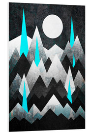 Foam board print  Dark Mountains - Elisabeth Fredriksson