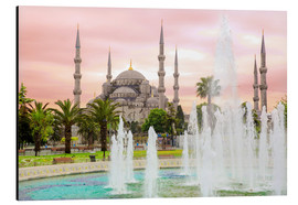 Aluminium print  the blue mosque (magi cami) in Istanbul / Turkey (vintage picture) - gn fotografie