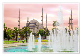 Premium poster  the blue mosque (magi cami) in Istanbul / Turkey (vintage picture) - gn fotografie