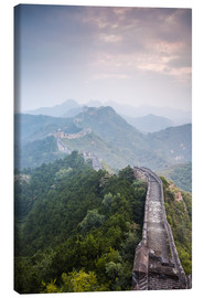 Canvas print  Great Wall of China in fog - Matteo Colombo