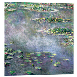 Acrylic print  Waterlily pond - Claude Monet