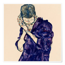 Premium poster  Youth with Violet Frock - Egon Schiele