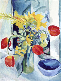 Acrylic print  Still life with Tulips - August Macke
