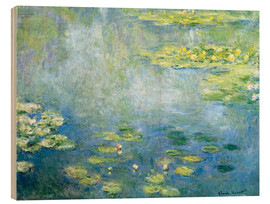 Wood print  Lily pond - Claude Monet