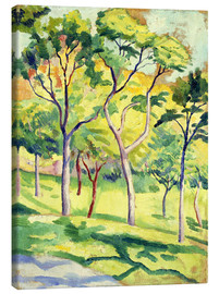Canvas print  Trees on a lawn - August Macke