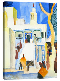 Canvas print  A Mosque - August Macke