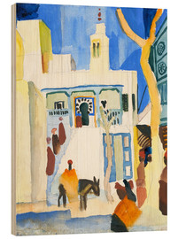 Wood print  A Mosque - August Macke