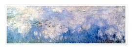 Premium poster  Waterlilies, panel B II. - Claude Monet