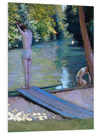 Foam board print  Bathers on the banks of the Yerres - Gustave Caillebotte