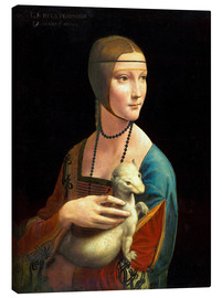 Canvas print  Cecilia Gallerani with an ermine - Leonardo da Vinci