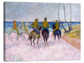 Canvas print  Riders on the beach (I) - Paul Gauguin