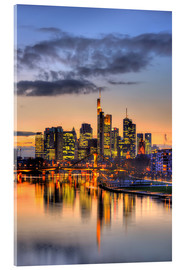 Acrylic print  Frankfurt skyline reflected in the Main - HADYPHOTO