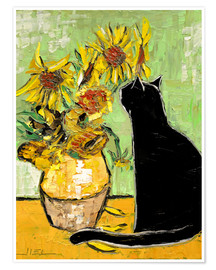 Premium poster  The cat of Van Gogh - JIEL