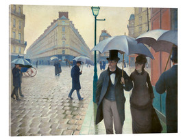 Acrylic print  Paris Street, rainy day - Gustave Caillebotte