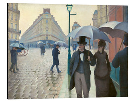 Aluminium print  Paris Street, rainy day - Gustave Caillebotte