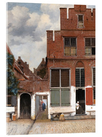 Acrylic print  The little street - Jan Vermeer