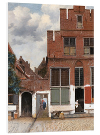 Foam board print  The little street - Jan Vermeer