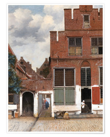 Premium poster  The little street - Jan Vermeer