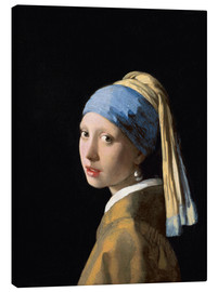Canvas print  Girl with the Pearl Earring - Jan Vermeer