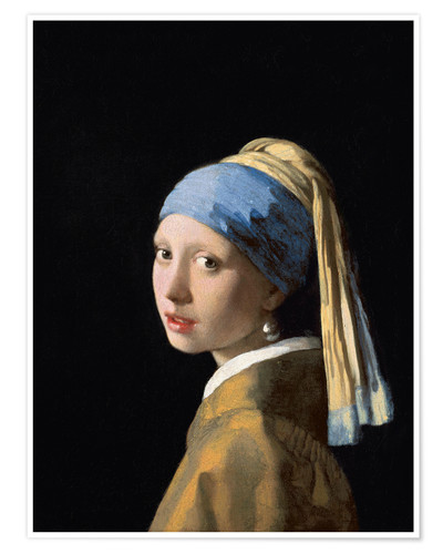 Premium poster Girl with the Pearl Earring