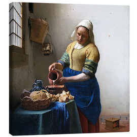 Canvas print  The Milkmaid - Jan Vermeer