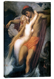 Canvas print  The Fisherman and the Syren - Frederic Leighton