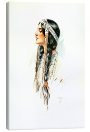 Canvas print  Red Indian squaw - Harrison Fisher